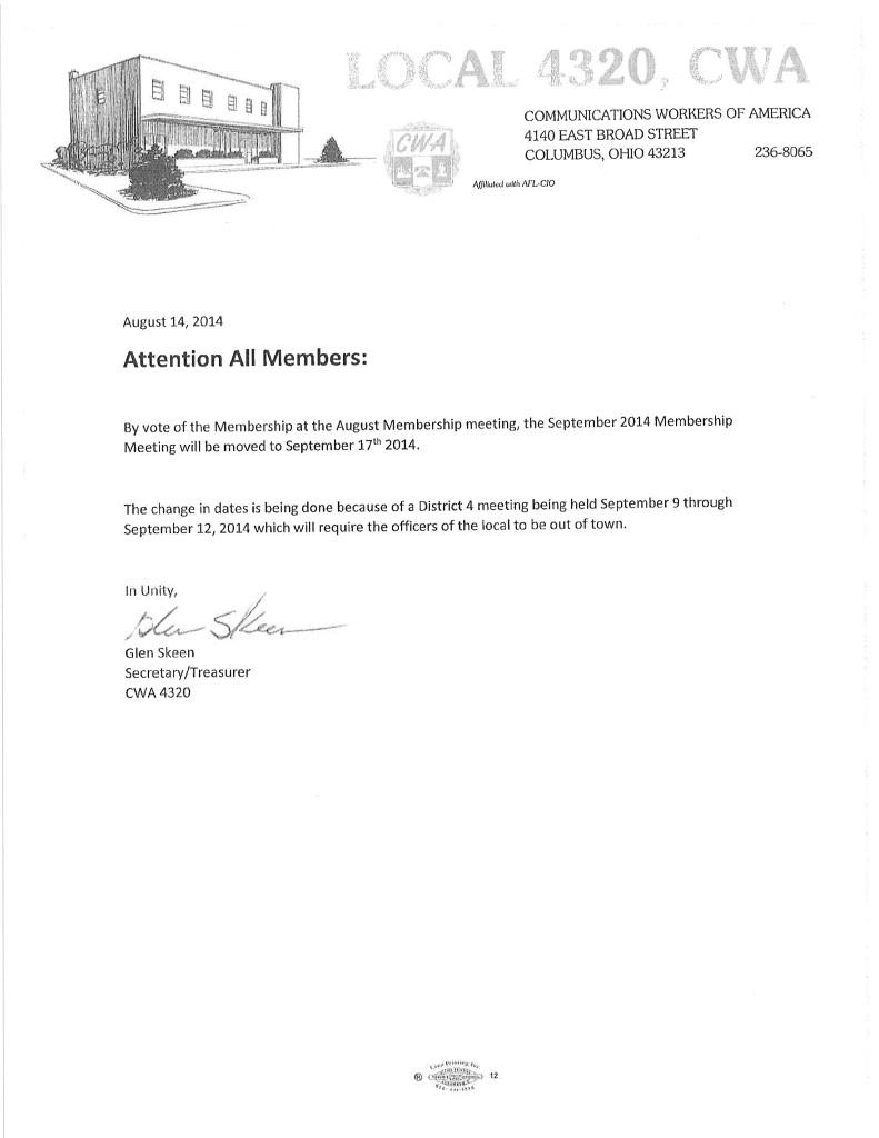 Membership meeting 2014
